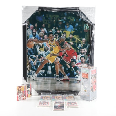 Michael Jordan Chicago Bulls, Kobe Bryant Lakers Photo Print, NBA Trading Cards