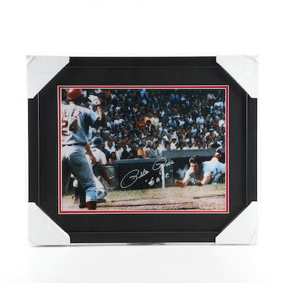 "Pete Rose Cincinnati Reds Signed ""Safe"" Framed Photo Print, CEI Sports"