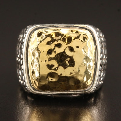 """John Hardy """"Classic Chain"""" Sterling Silver and 22K Ring"""