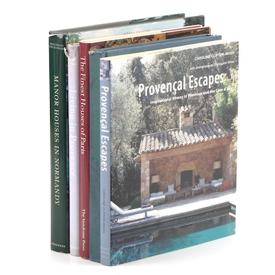 "French Home and Garden Books Including First Edition ""Provençal Escapes"""