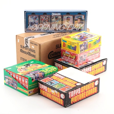 """1980/90s Topps, Donruss, """"Collect-A-Books"""" Baseball Cards in Original Packaging"""