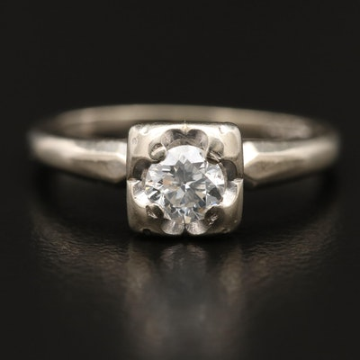 Antique 14K Diamond Belcher Ring