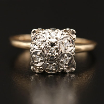 14K Illusion Set Diamond Ring