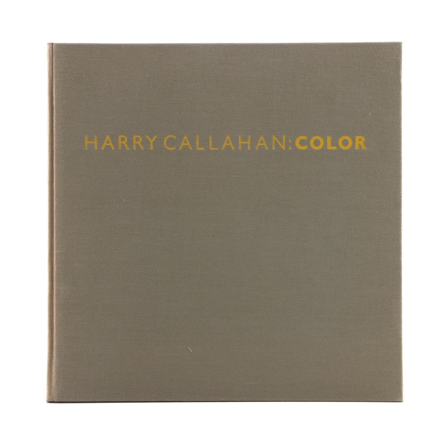 """Signed First Edition """"Harry Callahan: Color"""" with Slipcase, 1980"""