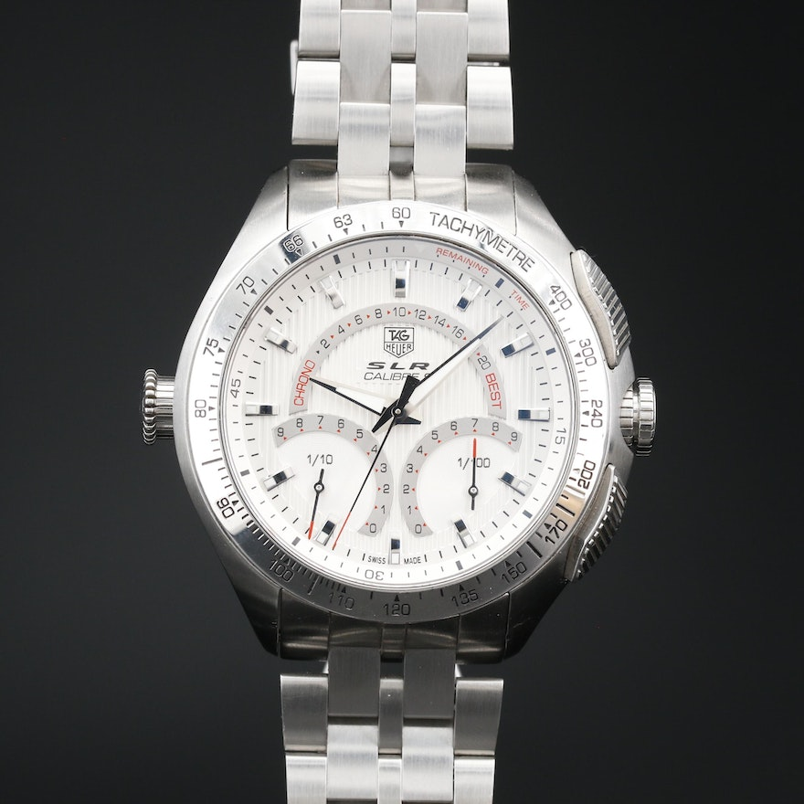 TAG Heuer SLR Calibre S For Mercedes Benz Stainless Steel Wristwatch