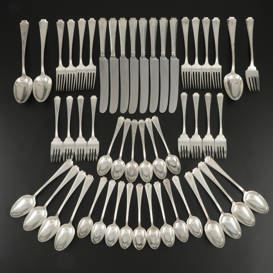 "Gorham ""Fairfax"" Sterling Silver Flatware, Late 19th/Early 20th C."