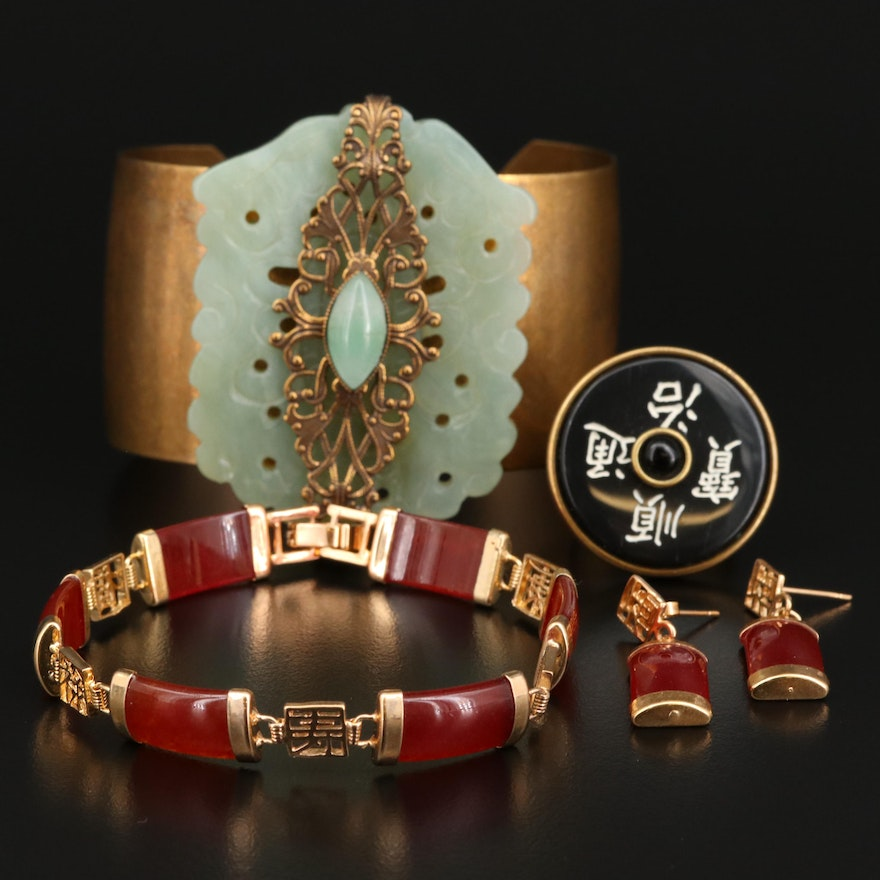 Gemstone Jewelry Featuring Jan Michaels Cuff and Adjustable Ring