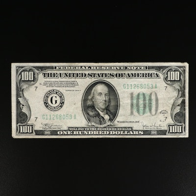 Series of 1934-C $100 Federal Reserve Note