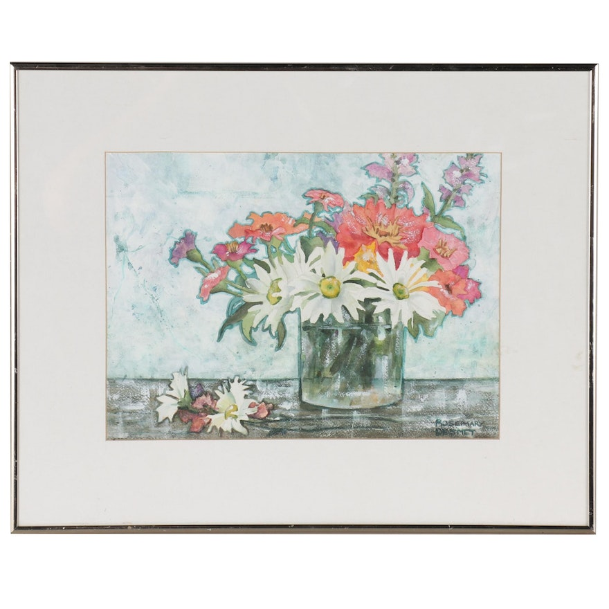 Rosemary Desmet Floral Still Life Watercolor Painting