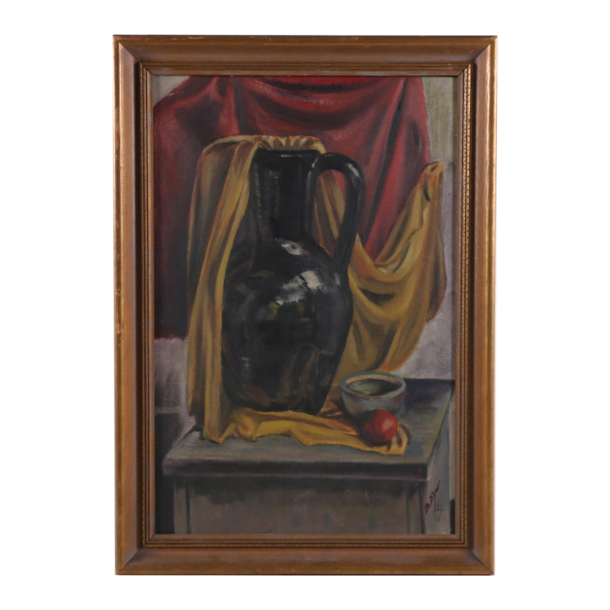 B. Eyer Oil Painting of Still Life Composition, 1947