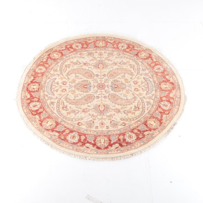 8'1 Round Persian Wool Rug
