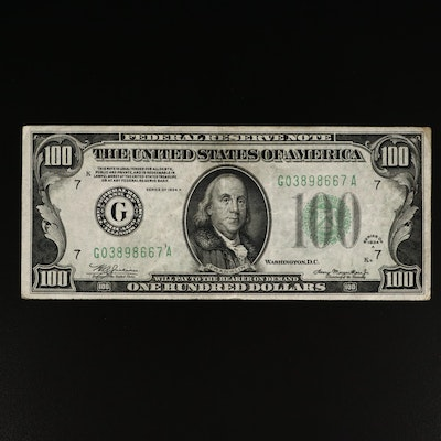 Series of 1934A $100 Federal Reserve Note