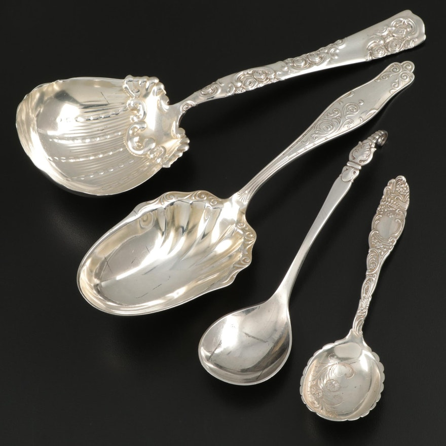 American and Danish Sterling Silver Serving Spoons
