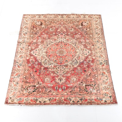 7'5 x 9'2 Hand-Knotted Persian Isfahan Wool Rug