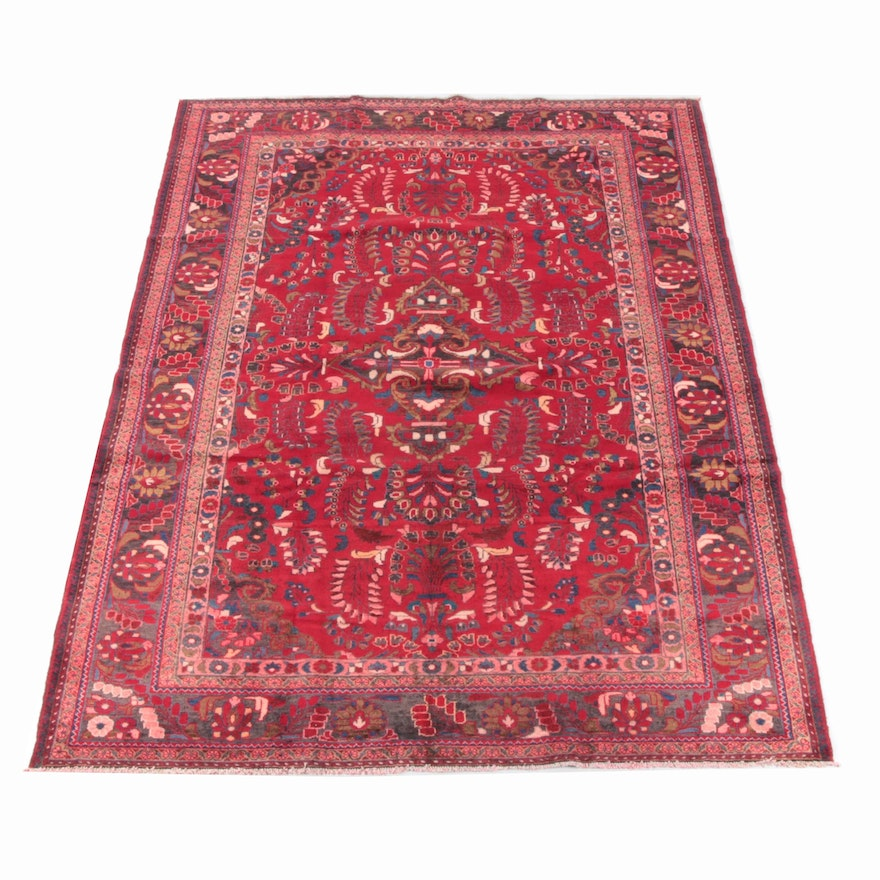 7'8 x 10'4 Hand-Knotted Persian Mehriban Wool Rug