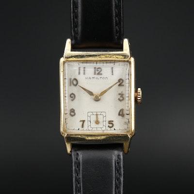 1950 Hamilton Cedric 14K Gold Filled Stem Wind Wristwatch