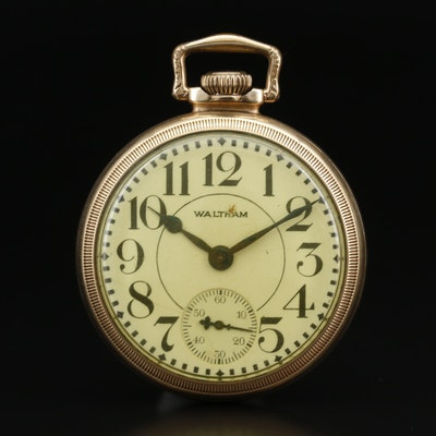 1928 Waltham Gold Filled Open Face Pocket Watch