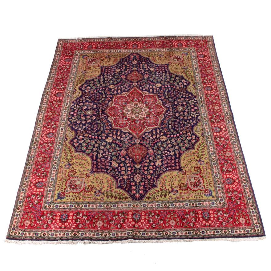 9'9 x 13'3 Hand-Knotted Persian Mashhad Wool Rug