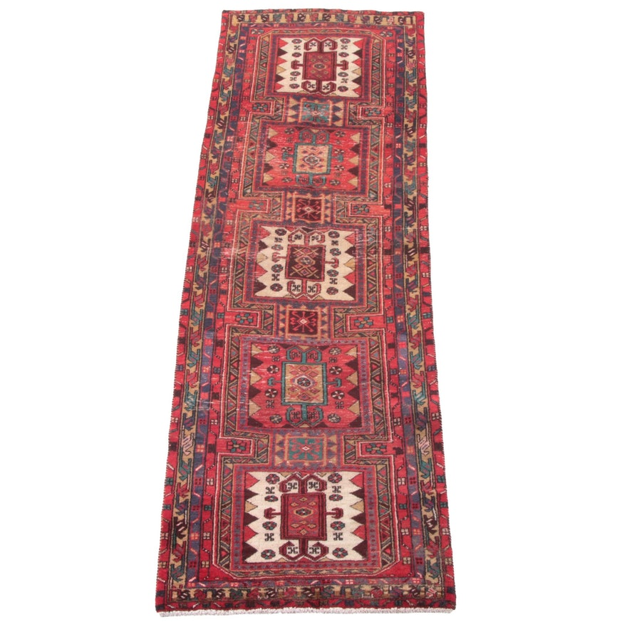 3'3 x 10'6 Hand-Knotted Afghani Khiva Wool Long Rug