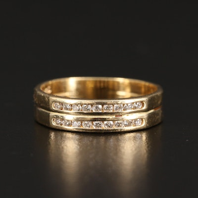 14K Diamond Soldered Ring Set