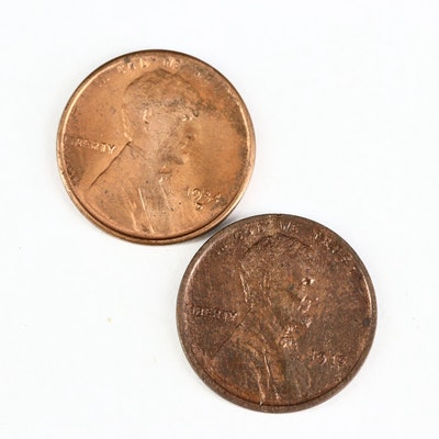 High Grade 1915 and 1934-D Lincoln Wheat Cents