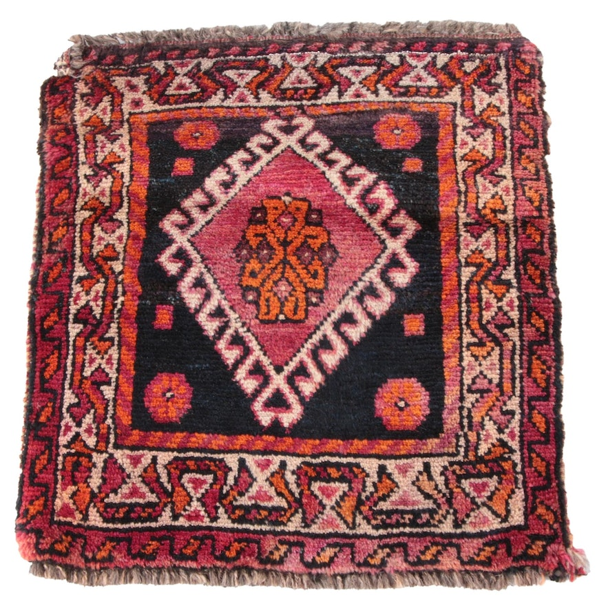 1'9 x 1'11 Hand-Knotted Caucasian Tribal Wool Floor Mat