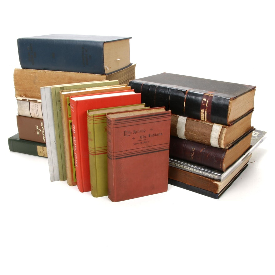 """Ohio History Books Including """"Historical Collections of Ohio"""" by Henry Howe"""