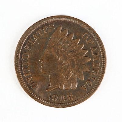 Key Date High Grade 1908-S Indian Head Cent