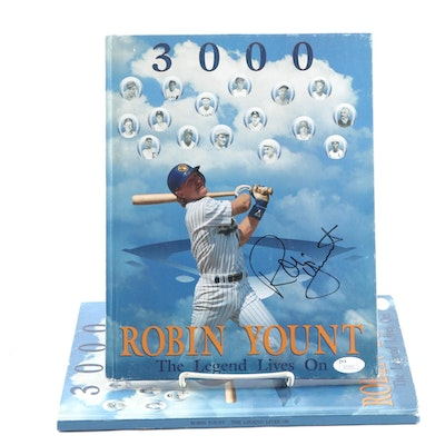 "1992 Robin Yount Signed ""The Legend Lives On"" 3000 Hits Hardcover Books, JSA COA"