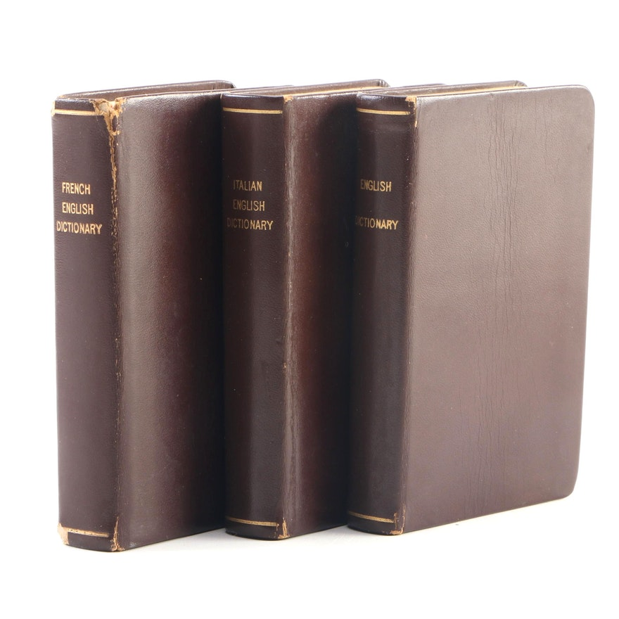 English, French and Italian Pocket Dictionaries, Mid-20th Century