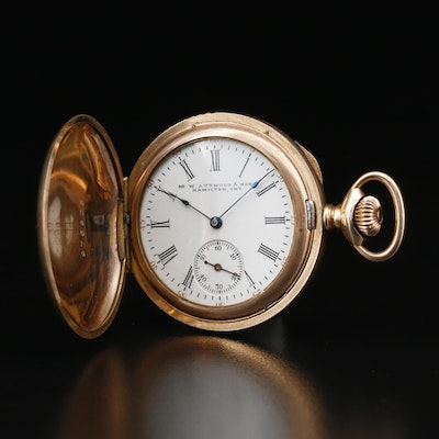 1903 Waltham for M.W. Attwood & Son Hunting Case Pocket Watch