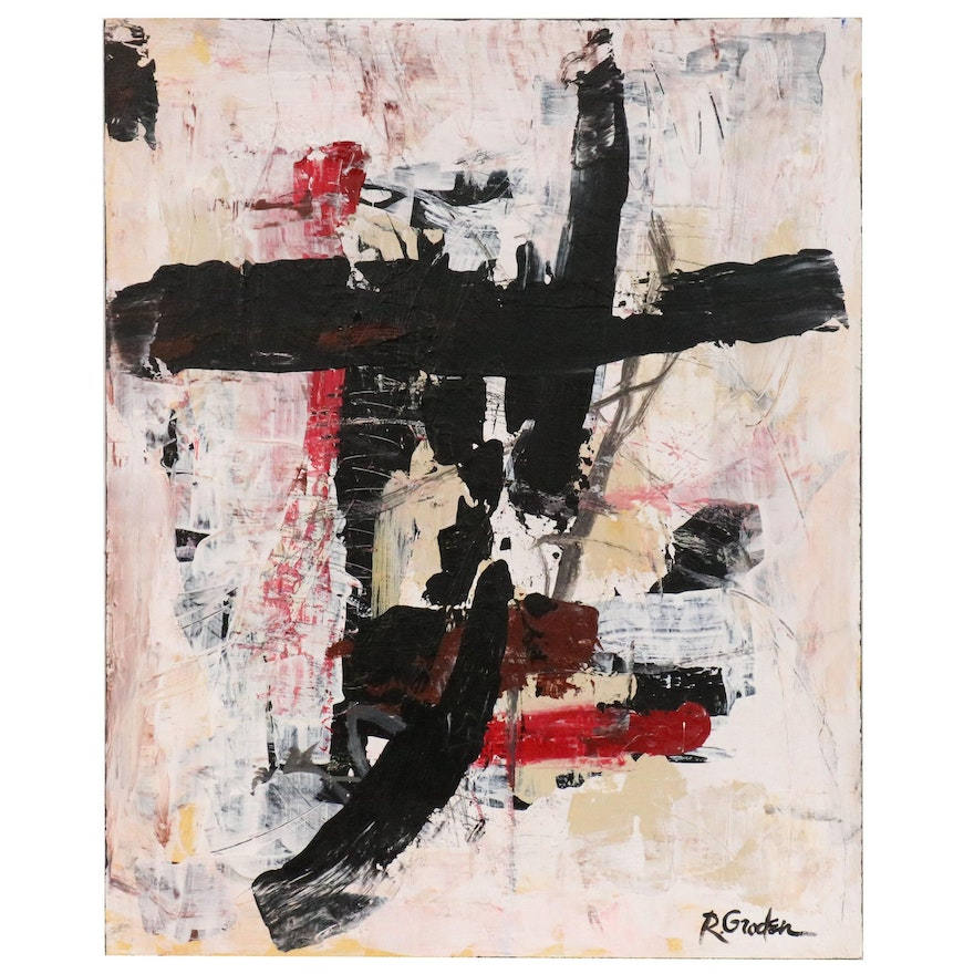 """Randy Groden Abstract Mixed Media Painting """"Salenzo"""""""
