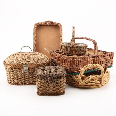Antique Sewing and Other Baskets, 20th Century