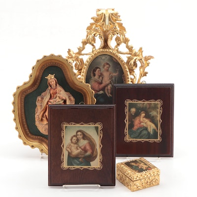Madonna and Child Wall Hangings and Tabletop Decor