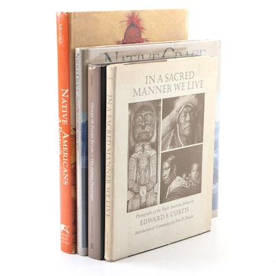 "First Edition ""Native Americans, A Portrait"" with Other Nonfiction Books"