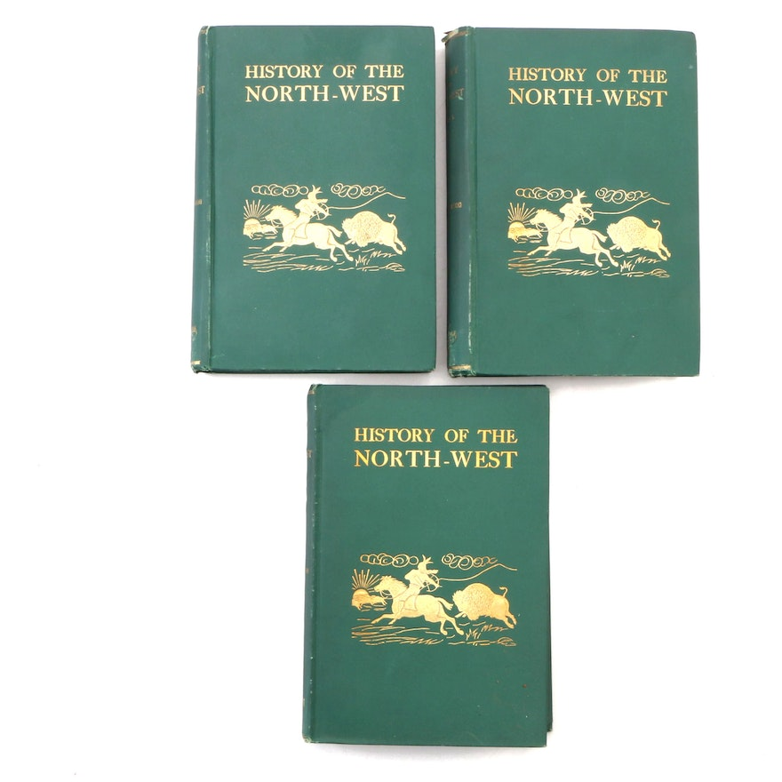 """First Edition """"History of the North-West"""" Three-Volume Set by Alexander Begg"""