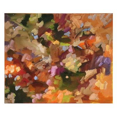 Sally Rosenbaum Abstract Oil Painting, 2020