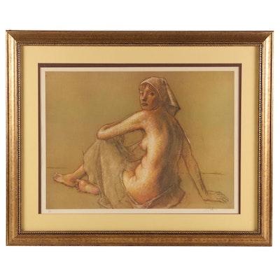 Robert Brackman Giclee Print of Pastel Nude Portrait