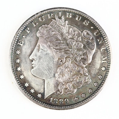 Key Date Low Mintage 1889-S Morgan Silver Dollar