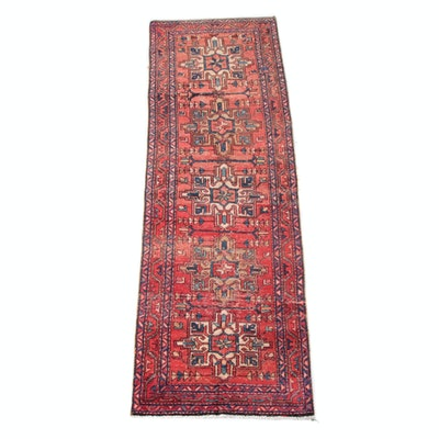 3'0 x 10'1 Hand-Knotted Persian Shirvan Wool Carpet Runner