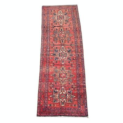 3'0 x 10'1 Hand-Knotted Persian Shirvan Wool Carpet Runner
