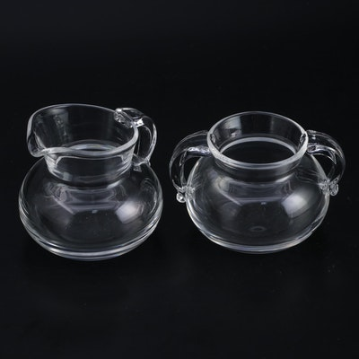 Steuben Creamer and Sugar Bowl