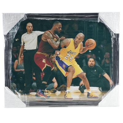 Kobe Bryant and Lebron James NBA Legends Framed Photo Print, CEI Sports
