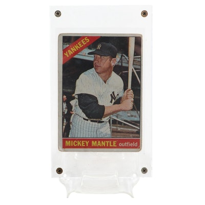 1966 Mickey Mantle New York Yankees Topps #50 Baseball Card