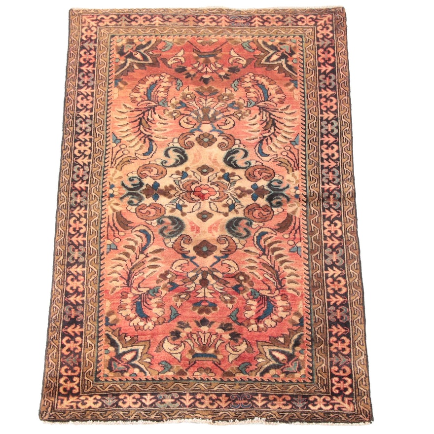 3'7 x 5'7 Hand-Knotted Persian Sarouk Wool Rug