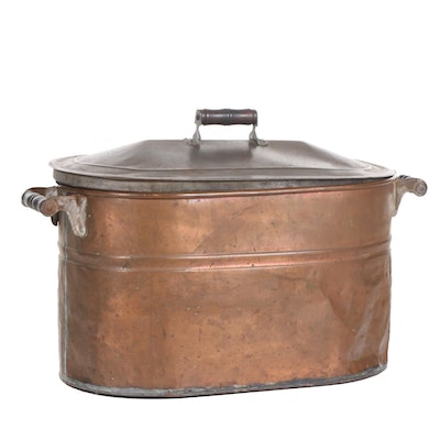 Copper Boiler with Lid, Late 19th to Early 20th Century