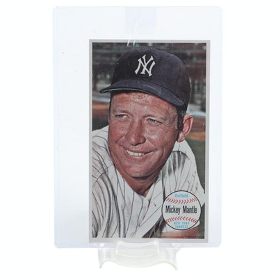 "1964 Mickey Mantle New York Yankees Topps ""Giant Oversized"" Baseball Card"