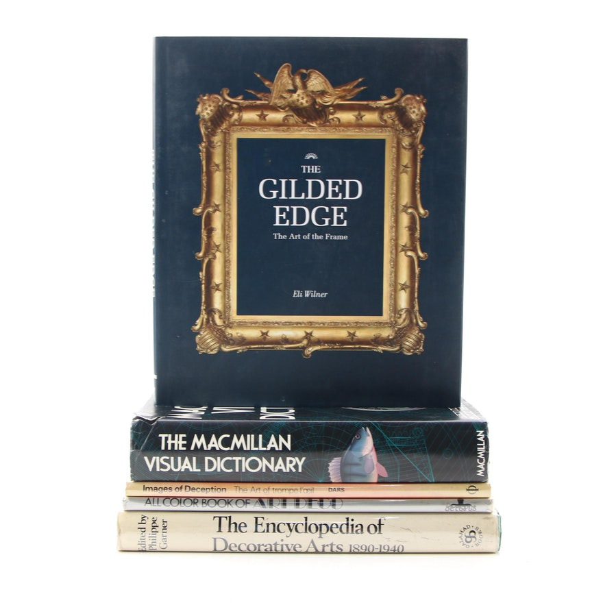 """Signed First Edition """"The Gilded Edge"""" by Eli Wilner with Other Books"""