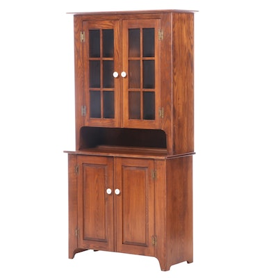Early American Style Pine Cupboard
