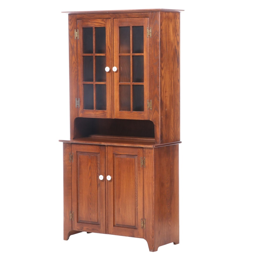 Early American Style Pine Cupboard